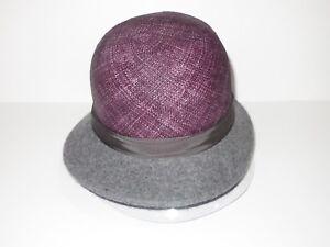 Kangol Womens Dapper Felt & Straw Cloche Cap Hat Small