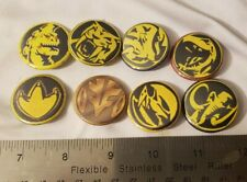 Mighty Morphin Power Rangers Zord Pin Buttons