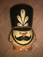 Mid Century Modern Italy Nutcracker Cookie Jar Vintage Rare