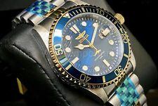 NEW Invicta 30616 Pro Diver 43MM Blue Dial Two Tone Stainless Steel Watch