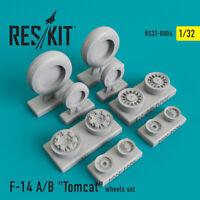 "Grumman F-14 A/B ""Tomcat""  wheels set (Resin Upgrade set) 1/32 ResKit RS32-0006"