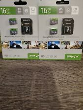 💎 Lot of 2 PNY 16GB 2-Pack Performance Class 4 SD Card for Canon Nikon Sony 💎