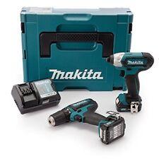 Makita Clx201aj Perceuse visseuse avec À Chocs/2 Batteries 10 8 V