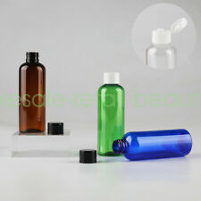 Refillable 100ml Empty PET Lotion Bottles Cosmetic Cream Container with Flip Cap