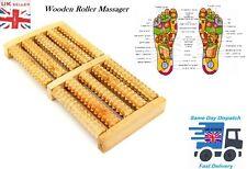 Wooden Foot Roller Massager Wood Massage Reflexology Relax Relief Spa Care UK