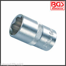 "BGS - 16 mm Socket - 6 Point - ""Super Lock"" - 1/2"" Drive - Pro Range - 2416"