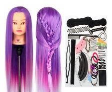 "26-28"" Hairdressing Training Head DIY Hairstyles Mannequin Clamp & Braid set DE"