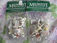 Lot of 2 pks Midwest Importers Cannon Falls Easter Bunny Mini Ornaments-NEW-EBXX