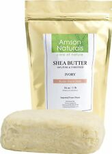 SHEA BUTTER-100% Natural Raw Unrefined (1 lb /16 0z) -by Amson Naturals-Use A...