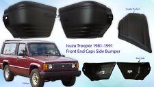 New Isuzu Trooper Rodeo Bighorn Side Bumper End Caps 1981-1990 1 Pairs LH RH OEM