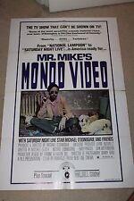 Original Movie Poster RARE MR MIKE'S MONDO VIDEO 1sh '79 Bill Murray
