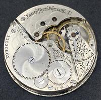 Elgin Grade 300 Pocket Watch Movement 16s 15j Openface model 7 ticking F5362