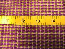 SEERSUCKER PURPLE~GREEN TINY SQUARES~RARE 100% quality COTTON sewing fabrc -yd