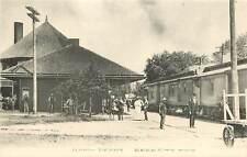 Michigan, MI, Reed City, Union Depot Albertype Co Postcard 1910's