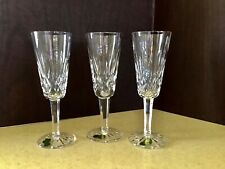 Three (3) Waterford Crystal Lismore Champagne Flutes Ireland