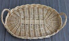Serviertablett, oval, aus Rattan