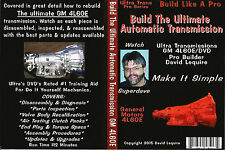 Trans Am Camaro & S-10 & Jimmy 4L60E  Automatic Transmission Rebuild  Video DVD