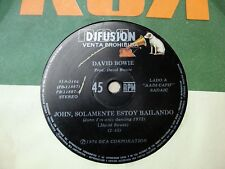 "DAVID BOWIE 45 PROMO John I'm Only Dancing SOUTHAMERICA 7"" 1976 Spanish Titles"