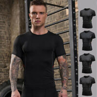 Mens Workout Gym Compression Underwear Fitness Tights Base layer Shirts Tops