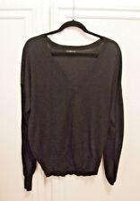 SALE! Zara Black Sweater Top  V- neck Long Sleeves Large L