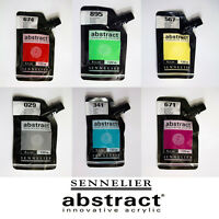 Sennelier Abstract Innovative Acrylic Artist Paint 120ml Pouch - 60 Colours