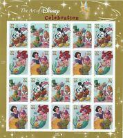 "Scott 3912-15 - 37 Cent The Art of Disney ""Celebration"" Souvenir Sheet of 20 MNH"