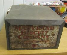 Antique Maryland Biscuit Company Metal Storage Tin Litho Box Lid Intact 9x9x6