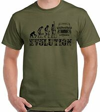Evolution Para Hombre Divertido Camiseta 90 110 127 4X4 Off Road defensores Rover