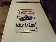 """Reflective Metal Sign. No Idling, Clean Air Zone 18"""" X 12"""""""