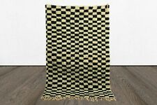 Black and white Checkered rug, Moroccan berber checker rug, checkerboard rug