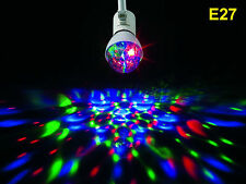 E27 3w LED rotativa rotating RGB lámpara luz pera fiesta discoteca DJ luz efecto