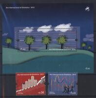 Portugal 2013 - Internationales Jahr der Statistik Wetter - 3848-49 + Block 347