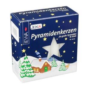 Jeka German Pyramid Candles - White - German Pyramid Christmas EWA