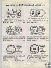 1940 PAPER AD Navajo Breakfast Dinnerware China Plates Dishes LaGrande