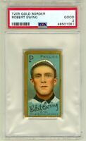 1911 T205 Gold Border Robert Ewing Philadelphia Phillies PSA 2 New Grade Piedmon
