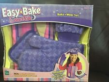 New Easy Bake Essentials Ware Set Purple Striped Apron Hat Mitt Hasbro Free Ship