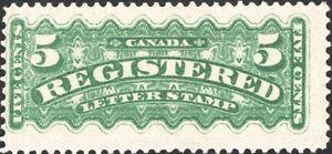 CANADA, 1875. Regsitration F2, Mint