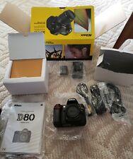 Nikon D80 10.2MP Digital SLR Camera body and  Accessories no  lens