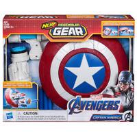 Marvel Avengers Endgame NERF Assembler Gear Captain America Dart Gun Toy - E3347
