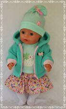 Puppenkleidung 5-tlg Set Rock/Jacke/Strumpfhose  für die Puppe 42- 43 cm Neu!