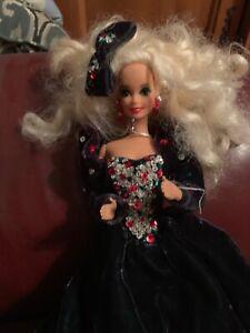"""Vintage Barbie Dolls White Hair Velvet Dress  12"""" Doll Mattel 1976 B1"""