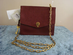 Fossil Stevie Small Henna Crossbody~Brown~NWT!!!MSRP$138