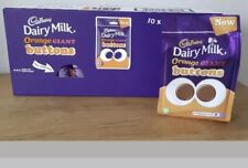 10 X Cadburys Chocolate Buttons Orange Packs Limited Edition Rare Bulk Job Lot..