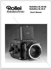 User Manual for Rollei SL66X SL66SE Medium Format SLR Camera