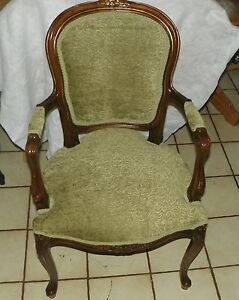 Mahogany French Carved Armchair / Parlor Chair  (AC162)