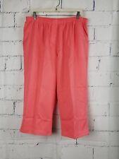 Kim Rogers Pull-on Capris Cropped Pants plus size 18W elastic waist orange R4