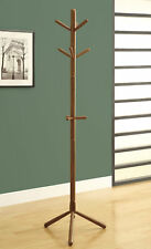 """Monarch Specialities Coat Rack - 69""""H / Oak Wood Contemporary Style (I-2003)"""