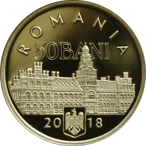 ROMANIA - 50 Bani 2018 PROOF UNC - 100 Years of the Bucovina Bukowina Union
