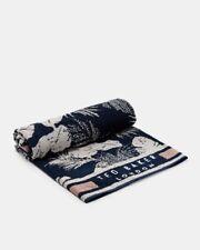 Ted Baker Unisex Beach Towel Navy- Woven Cotton - Tropick - Bath Holidays-RRP£49