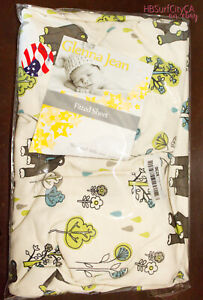 Glenna Jean North Country Fitted Crib Sheet, Bears Trees gender neutral outdoors